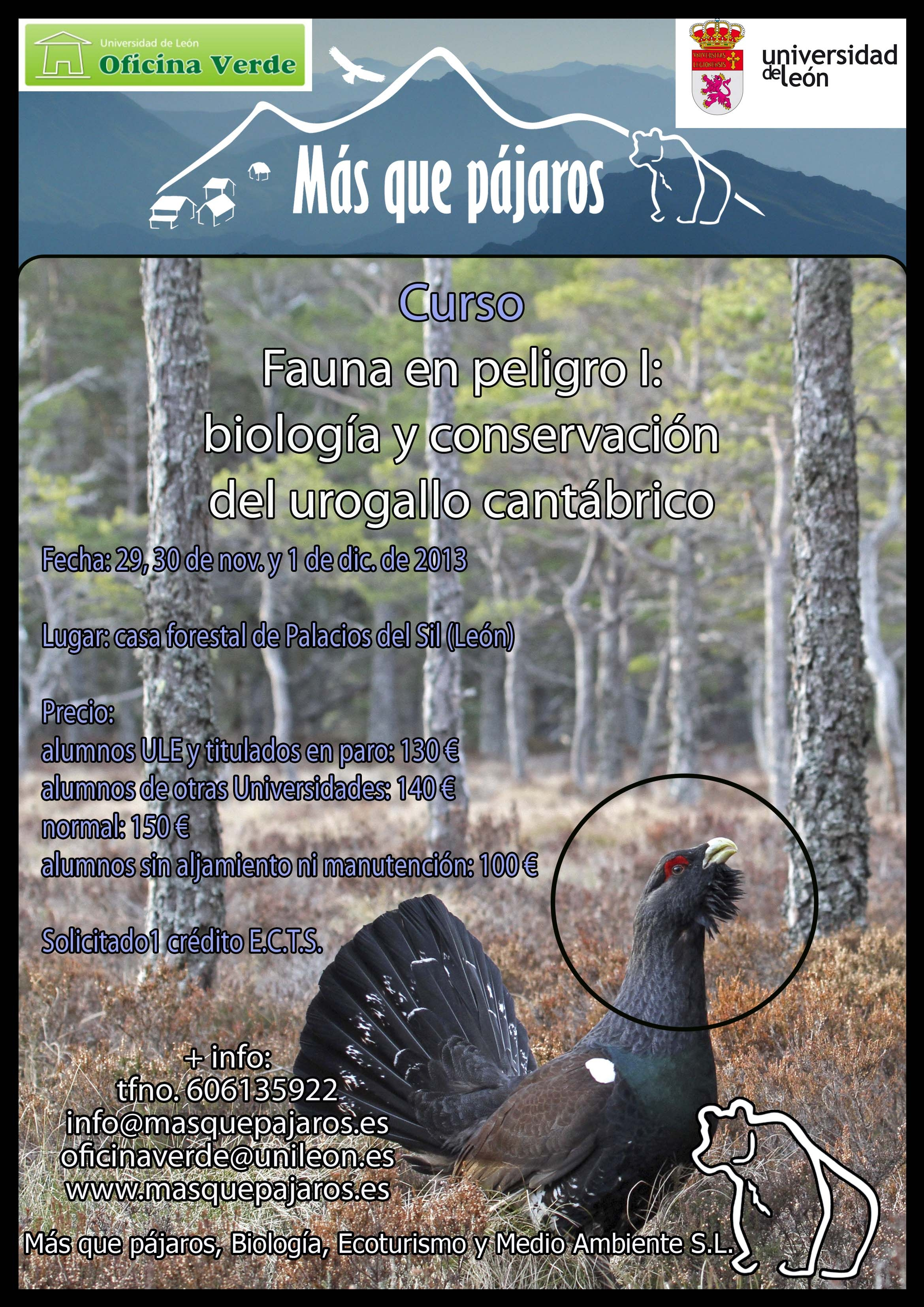Curso fauna en peligro biolog a y conservaci n del for Oficina 3058 cajamar